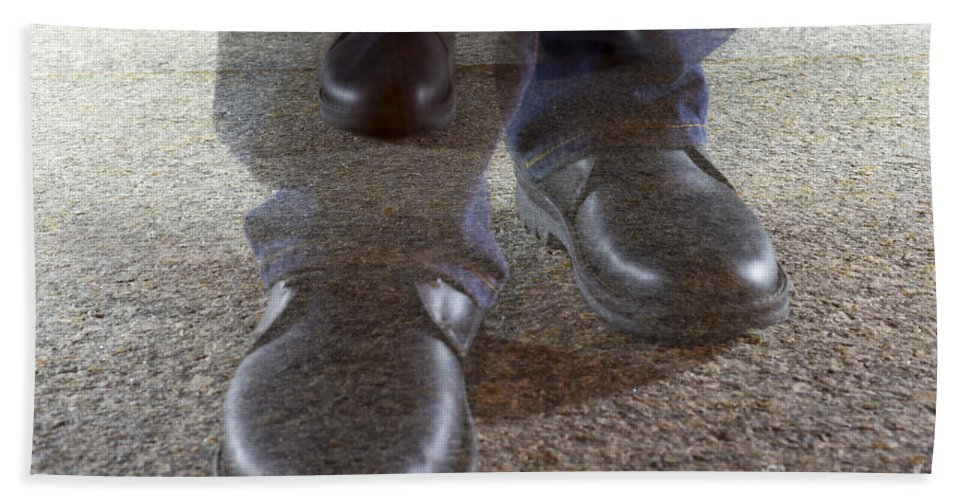 Walking Hand Towel featuring the photograph Walking by Mats Silvan