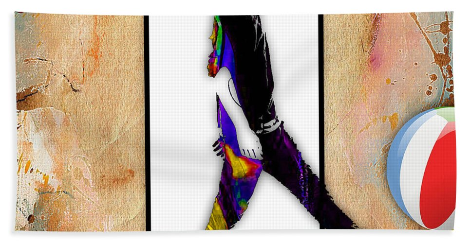 Fantasy Bath Sheet featuring the mixed media Walking Out Of Picture Frame by Marvin Blaine