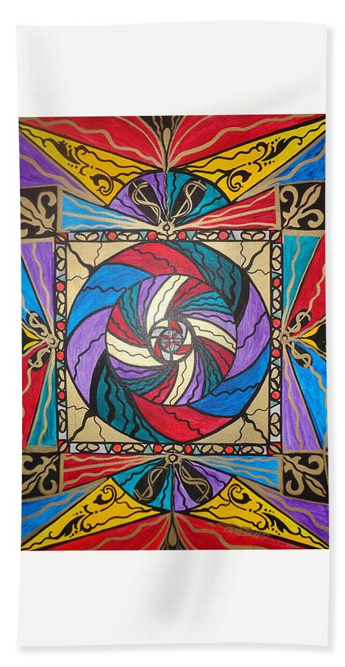 Vibration Bath Towel featuring the painting Wealth by Teal Eye Print Store