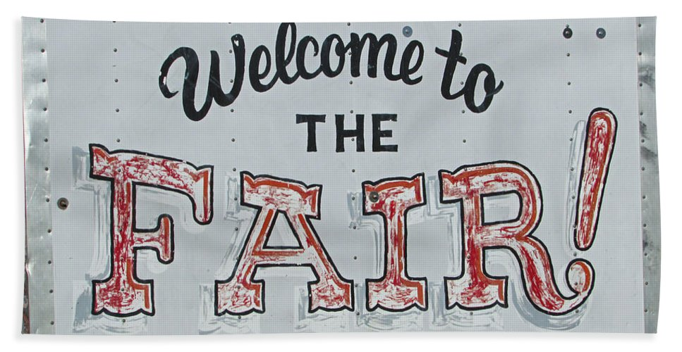 Carnival Bath Sheet featuring the photograph Welcome To The Fair by Jamie Smith