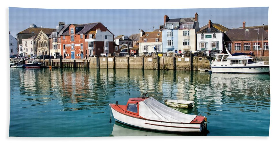 Weymouth Hand Towel featuring the photograph Weymouth Harbour by Susie Peek