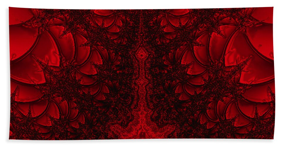 Abstract Bath Sheet featuring the digital art Probe by Dana Haynes