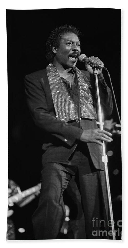 Soul Singer Bath Sheet featuring the photograph Wilson Pickett by Concert Photos