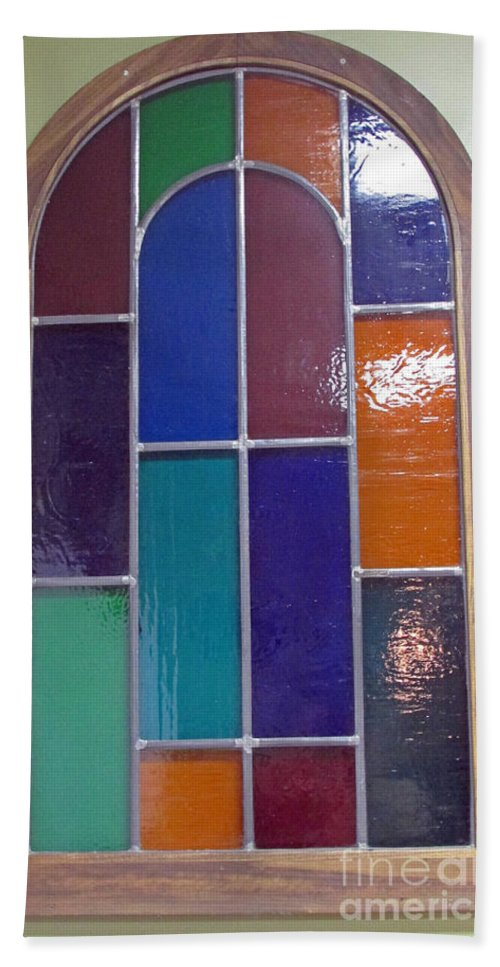 Stained Glass Bath Sheet featuring the photograph Window To No Where by Jamie Smith