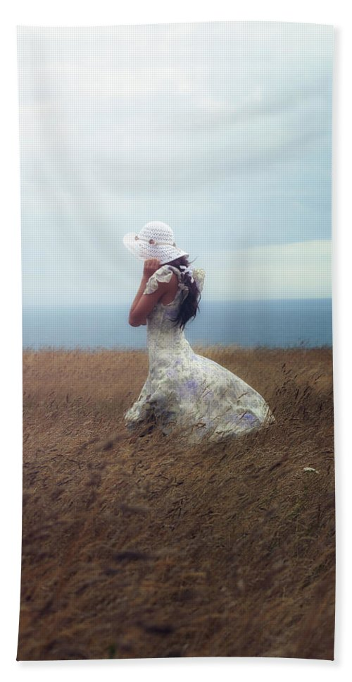 Girl Hand Towel featuring the photograph Windy Day by Joana Kruse