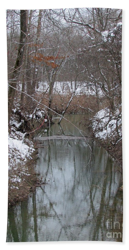 Scene Bath Sheet featuring the photograph Winter Serenity by Jamie Smith