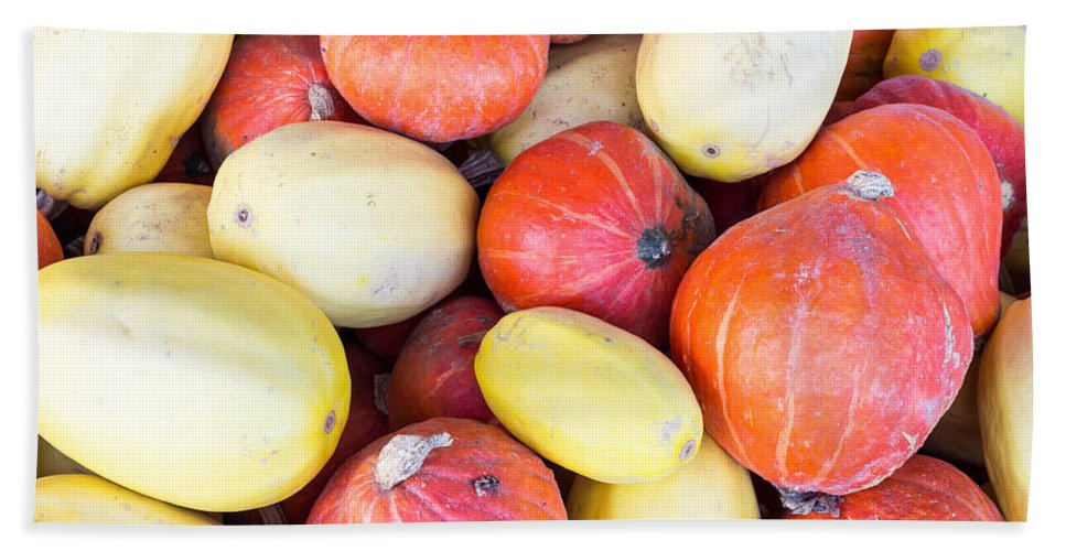 Agriculture Bath Sheet featuring the photograph Winter Squash by John Trax