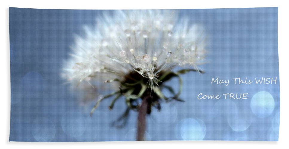 Dandelion Bath Sheet featuring the photograph Wish by Krissy Katsimbras