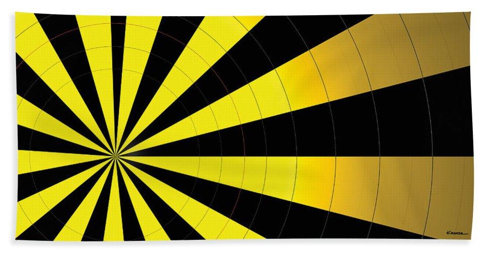 Abstract Bath Sheet featuring the digital art Yellow Jacket by James Kramer