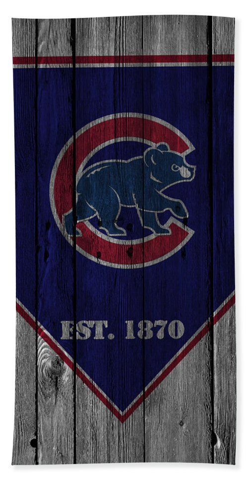 Cubs Hand Towel featuring the photograph Chicago Cubs by Joe Hamilton