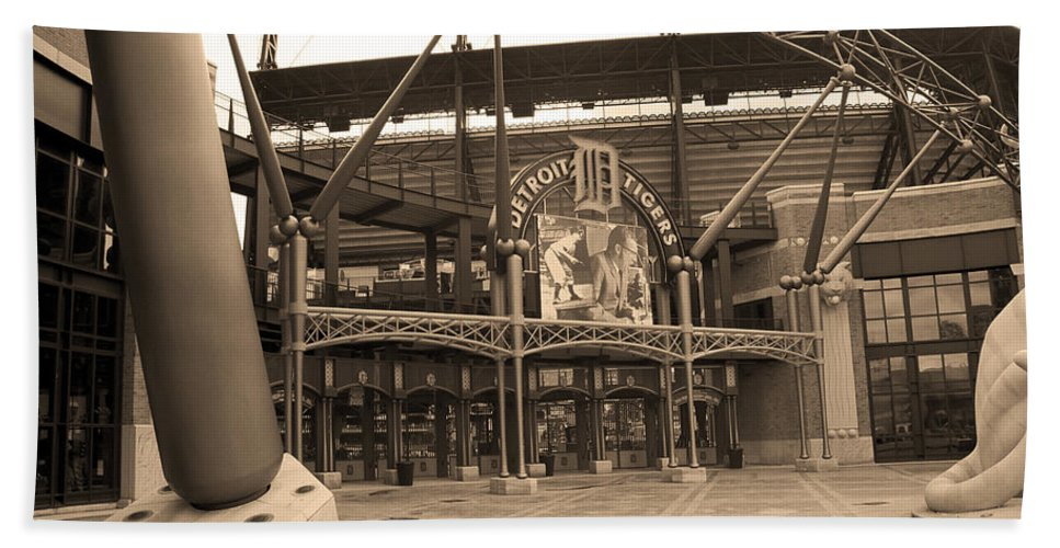 America Hand Towel featuring the photograph Comerica Park - Detroit Tigers by Frank Romeo