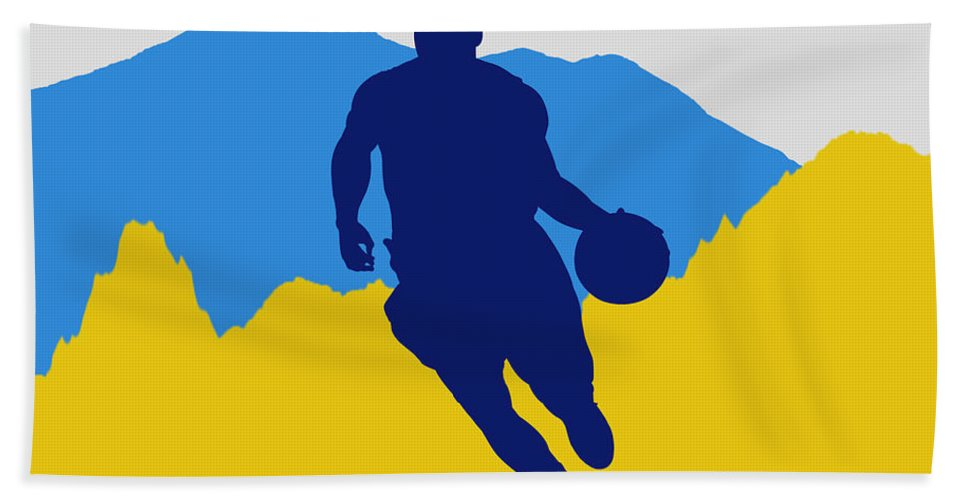 Ty Lawson Hand Towel featuring the photograph Denver Nuggets by Joe Hamilton