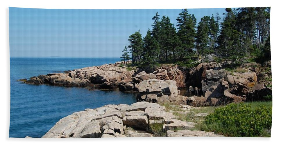 Sea Hand Towel featuring the photograph Landscape by FL collection