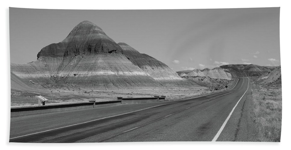 66 Bath Sheet featuring the photograph Painted Desert by Frank Romeo