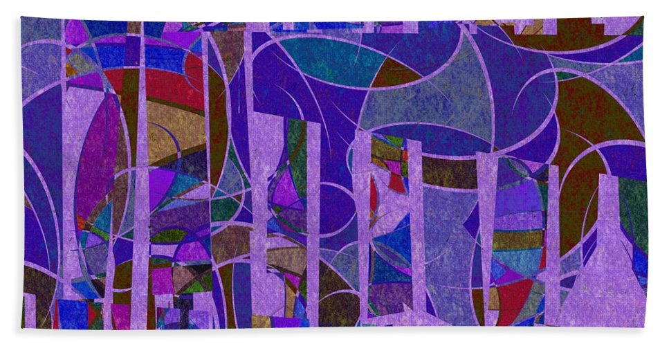 Abstract Hand Towel featuring the digital art 1022 Abstract Thought by Chowdary V Arikatla