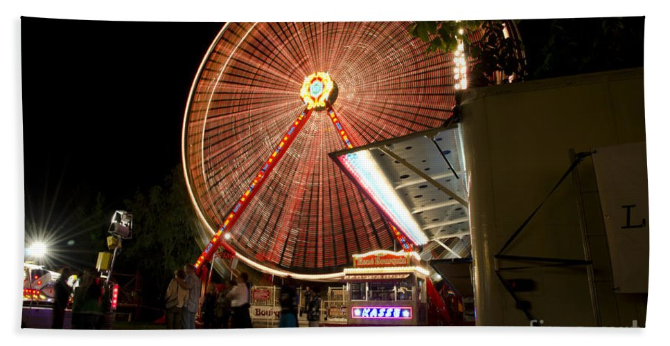 Amusement Park Hand Towel featuring the photograph Amusement Park by Mats Silvan