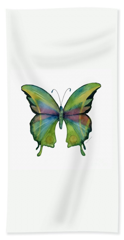 Prism Bath Towel featuring the painting 11 Prism Butterfly by Amy Kirkpatrick