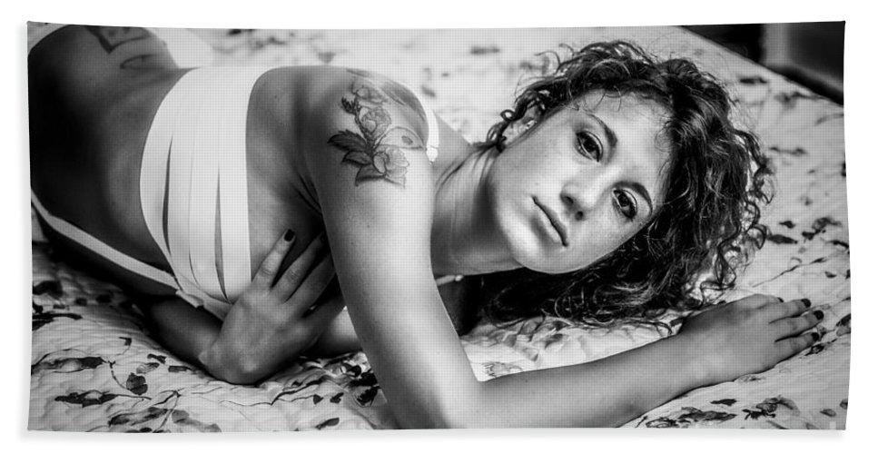 Adult Bath Sheet featuring the photograph Que Nos Vies Aient L'air D'un Film by Traven Milovich