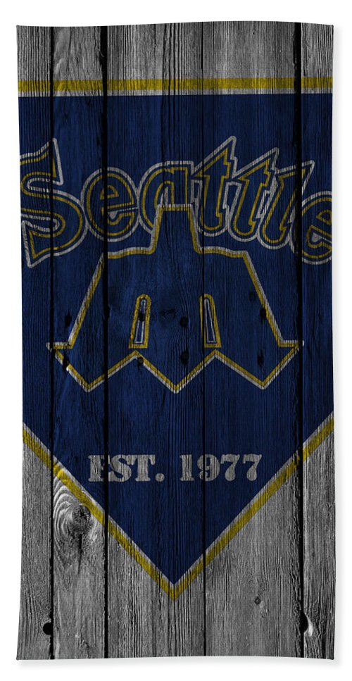 Mariners Hand Towel featuring the photograph Seattle Mariners by Joe Hamilton