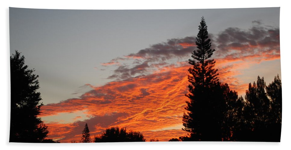Shot From My Yard Bath Sheet featuring the photograph Skyscape by Robert Floyd