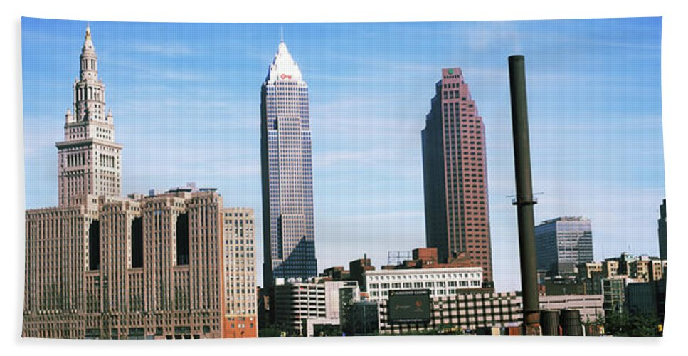 Photography Bath Sheet featuring the photograph Skyscrapers In A City, Philadelphia by Panoramic Images