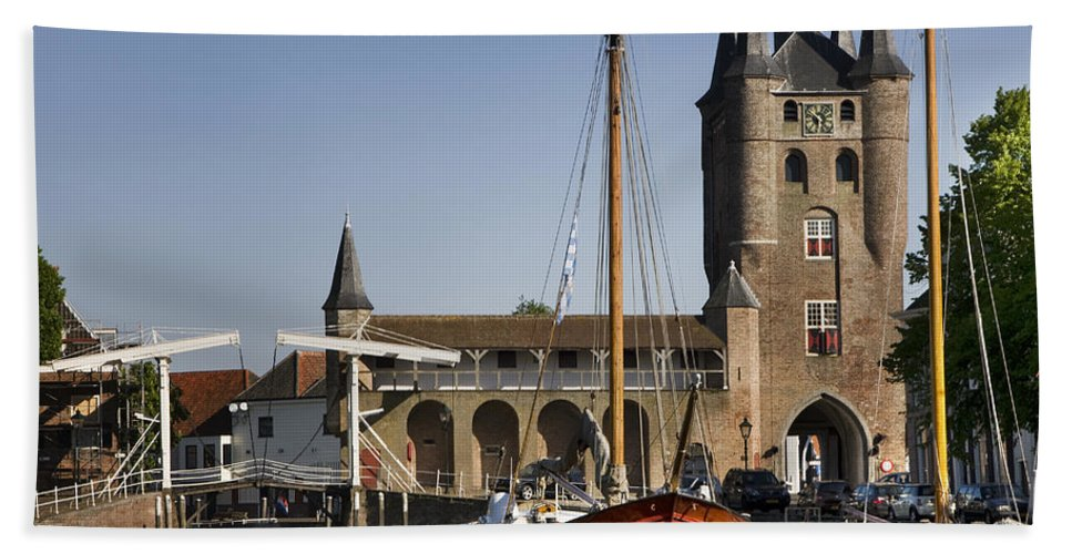 Zierikzee Bath Sheet featuring the photograph 110506p227 by Arterra Picture Library