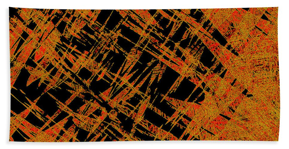 Abstract Hand Towel featuring the digital art 1126 Abstract Thought by Chowdary V Arikatla