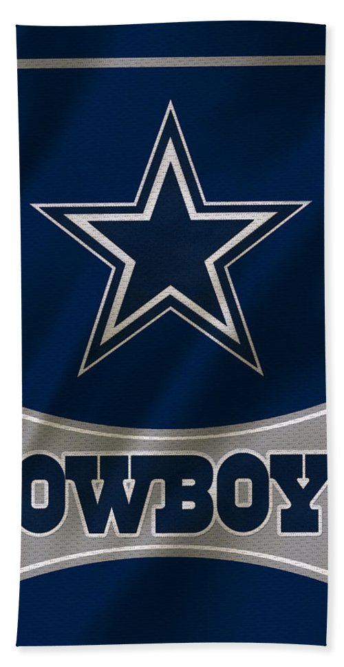 Cowboys Hand Towel featuring the photograph Dallas Cowboys Uniform by Joe Hamilton