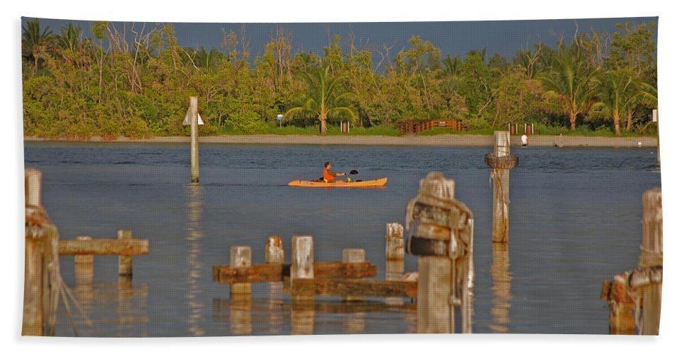 Kayak Bath Sheet featuring the photograph 12- Kayak by Joseph Keane