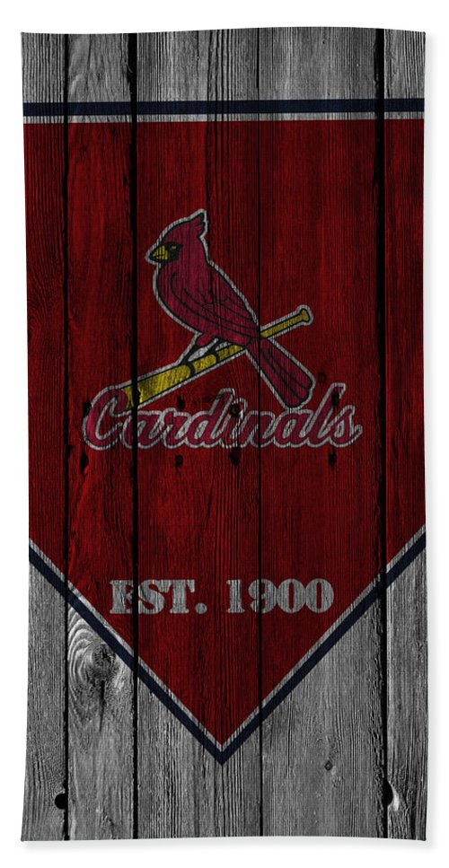 Cardinals Bath Towel featuring the photograph St Louis Cardinals by Joe Hamilton