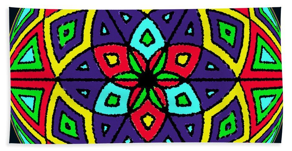 Mandala Hand Towel featuring the digital art 12 X 12.6 by Art by Kar