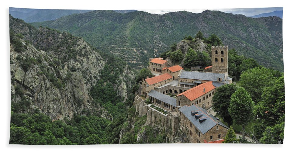 Martin-du-canigou Hand Towel featuring the photograph 120520p136 by Arterra Picture Library