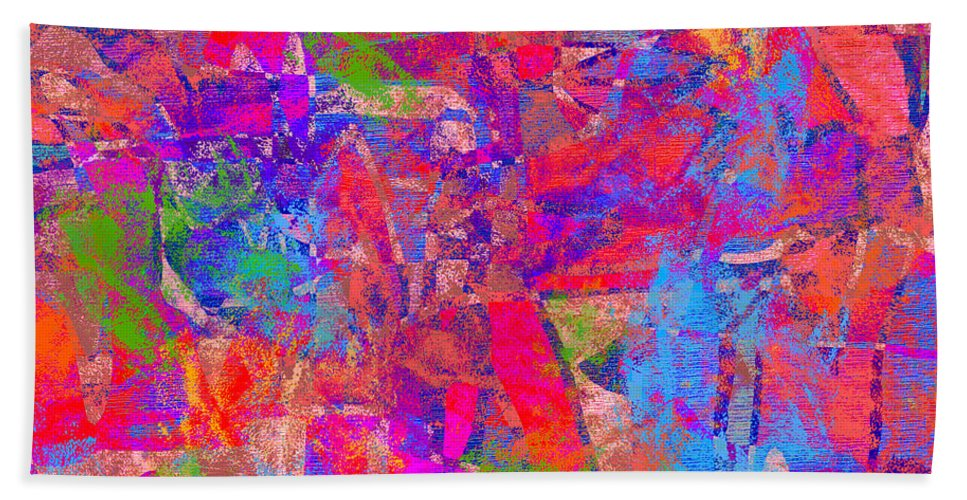 Abstract Hand Towel featuring the digital art 1248 Abstract Thought by Chowdary V Arikatla