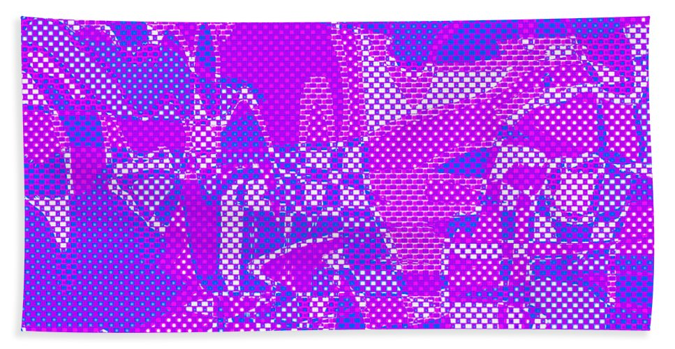 Abstract Bath Sheet featuring the digital art 1250 Abstract Thought by Chowdary V Arikatla