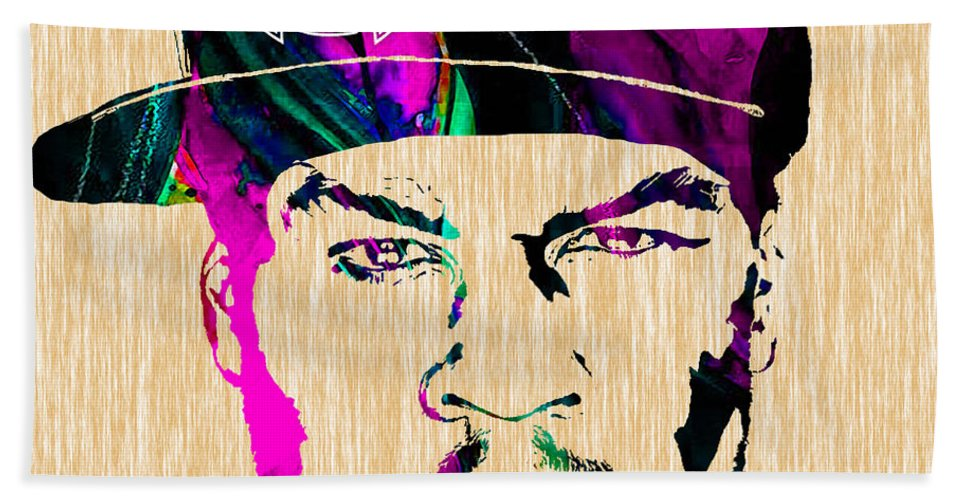 Rap Hand Towel featuring the mixed media 50 Cent Collection by Marvin Blaine