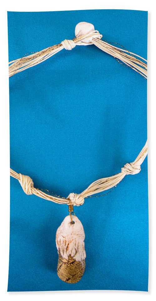 Augusta Stylianou Bath Sheet featuring the jewelry Aphrodite Gamelioi Necklace by Augusta Stylianou