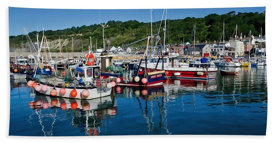 Lyme-regis Bath Sheet featuring the photograph Lyme Regis Harbour by Susie Peek