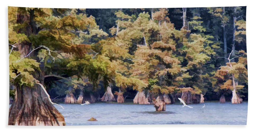 Hand Towel featuring the photograph Reelfoot Lake by Bonnie Willis