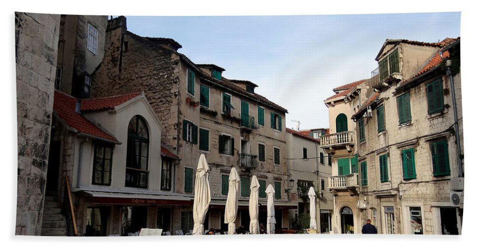 Mediterranean Hand Towel featuring the photograph Views Of Split Croatia by Richard Rosenshein