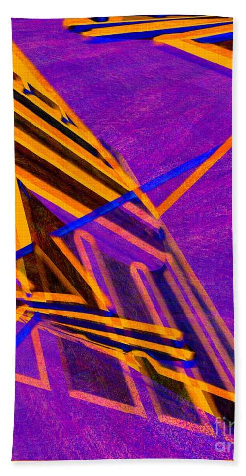 Abstract Bath Sheet featuring the digital art 1359 Abstract Thought by Chowdary V Arikatla