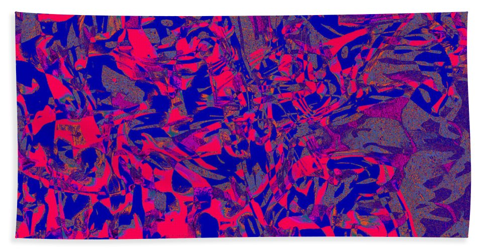 Abstract Bath Sheet featuring the digital art 1363 Abstract Thought by Chowdary V Arikatla