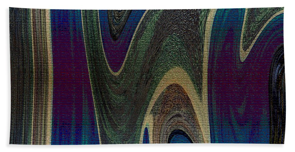 Abstract Bath Sheet featuring the digital art 1501 Abstract Thought by Chowdary V Arikatla
