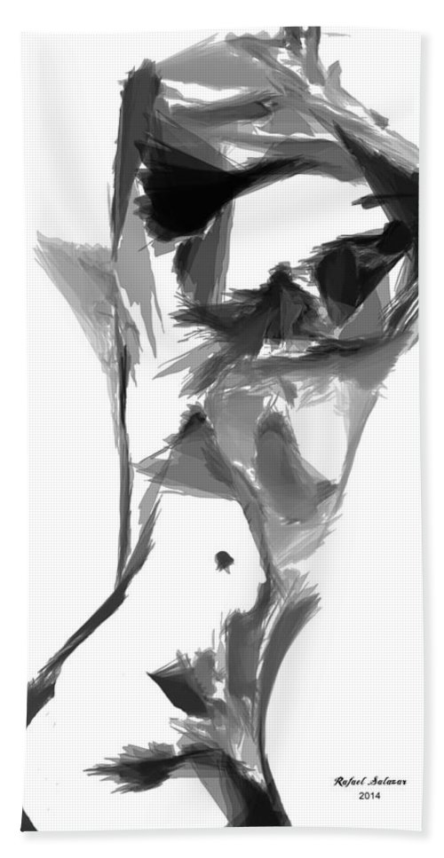 Abstract Hand Towel featuring the digital art Abstract Series II by Rafael Salazar