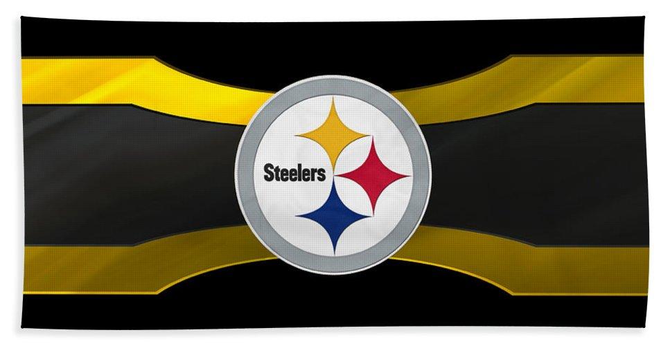 Steelers Bath Sheet featuring the photograph Pittsburgh Steelers by Joe Hamilton