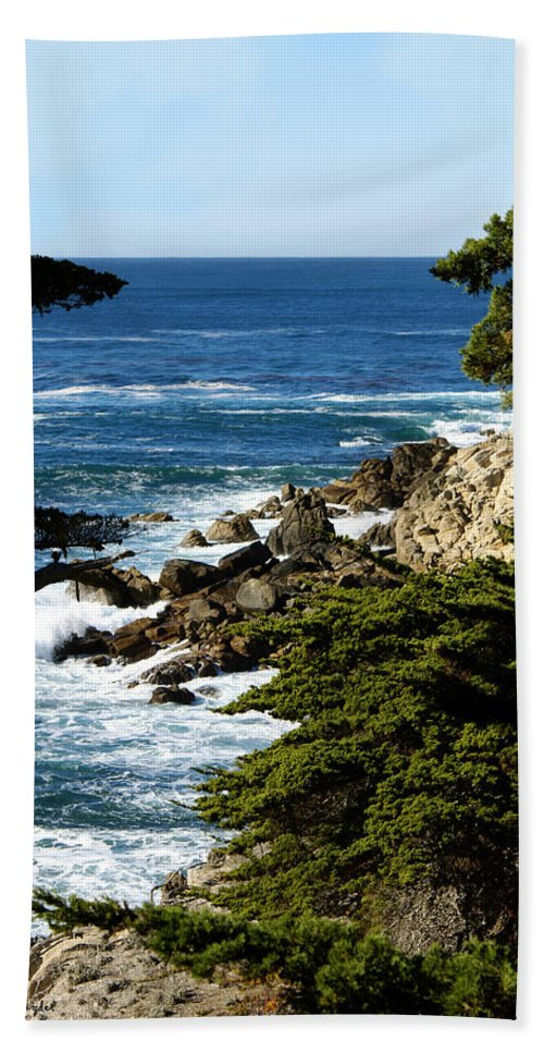17 Mile Drive Iv Bath Sheet featuring the digital art 17 Mile Drive Iv by Barbara Snyder