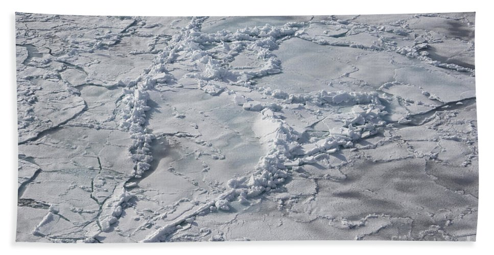 Pack Ice Bath Sheet featuring the photograph Pack Ice, Antarctica by John Shaw