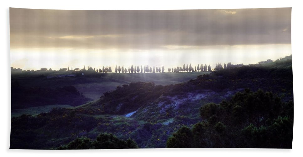 Pienza Hand Towel featuring the photograph Tuscany - Val D'orcia by Joana Kruse