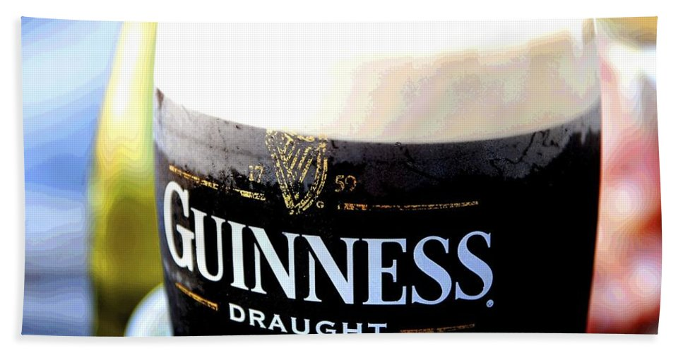 Guiness Hand Towel featuring the photograph 1759 Pint by Charlie and Norma Brock
