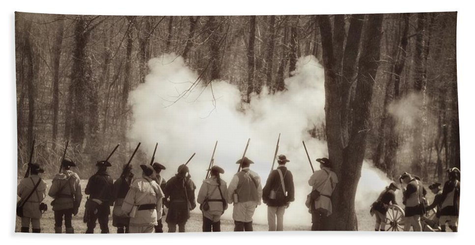 Revolutionary War Bath Sheet featuring the photograph 1781 Guilford Court House Battle by Benanne Stiens