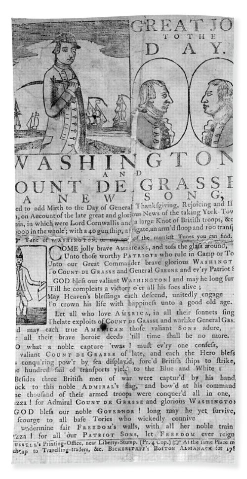 1781 Hand Towel featuring the photograph Yorktown: Surrender, 1781 by Granger